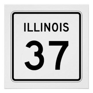 Illinois Route 37 Poster
