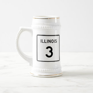 Illinois Route 3 Beer Stein