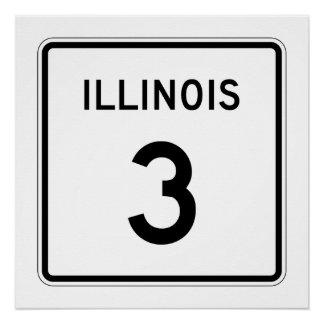 Illinois Route 3 Poster