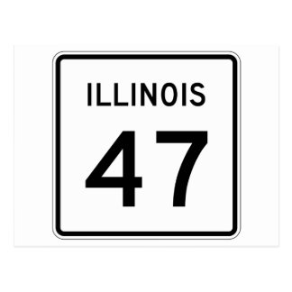 Illinois Route 47 Postcard