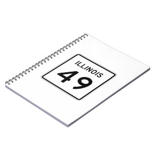 Illinois Route 49 Spiral Notebook