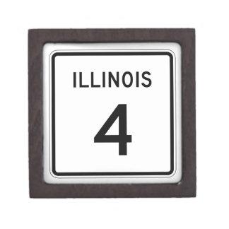 Illinois Route 4 Keepsake Box