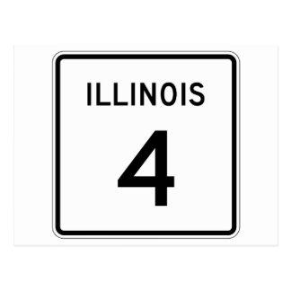 Illinois Route 4 Postcard