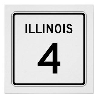 Illinois Route 4 Poster