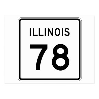 Illinois Route 78 Postcard