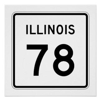 Illinois Route 78 Poster