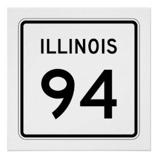 Illinois Route 94 Poster