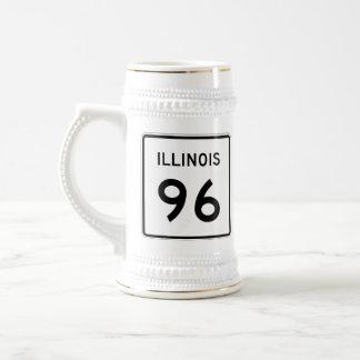 Illinois Route 96 Beer Stein