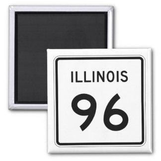 Illinois Route 96 Magnet