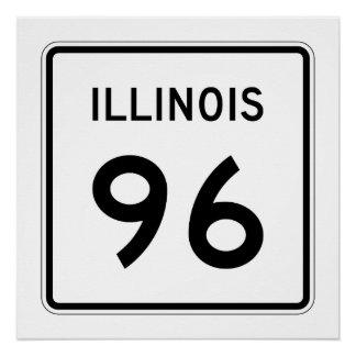 Illinois Route 96 Poster