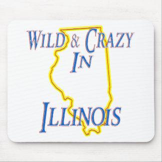 Illinois - salvaje y loca alfombrillas de raton