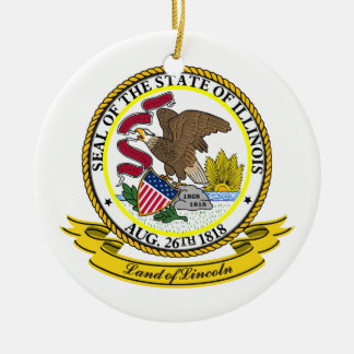 Illinois Seal Christmas Ornaments