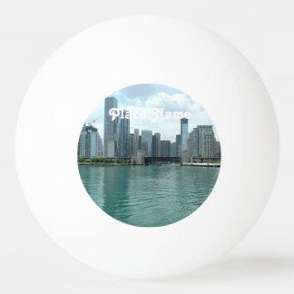 Illinois Skyline Ping Pong Ball
