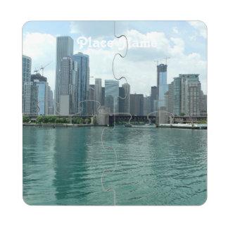 Illinois Skyline Puzzle Coaster