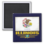 Illinois (SP) 2 Inch Square Magnet