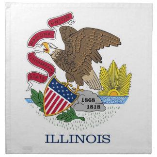 Illinois State Flag American MoJo Napkin