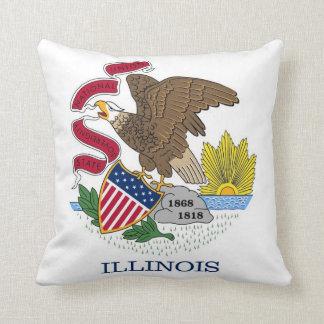 Illinois State Flag American MoJo Pillow