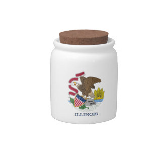 Illinois State Flag Candy Jar