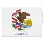 Illinois State Flag Card