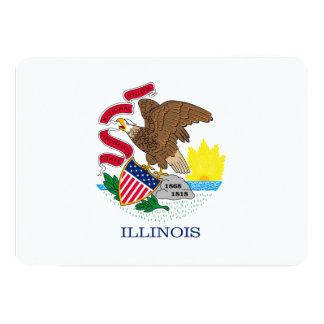Illinois State Flag Design 5x7 Paper Invitation Card