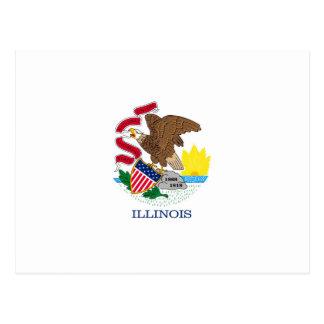 Illinois State Flag Design Postcard