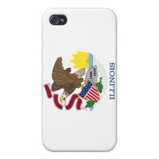 Illinois State Flag iPhone 4 Covers