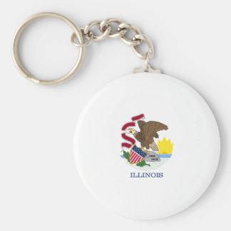 Illinois State Flag Key Chain