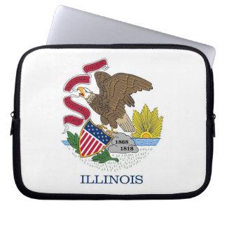 Illinois State Flag Laptop Sleeve