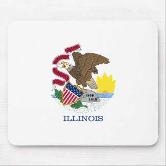 Illinois State Flag Mouse Pads