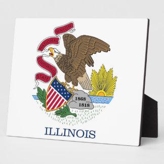 Illinois State Flag Plaque