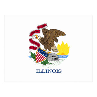 Illinois State Flag Post Cards