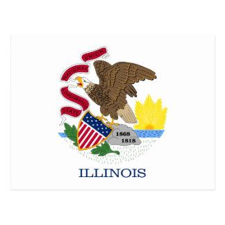 Illinois State Flag Postcard