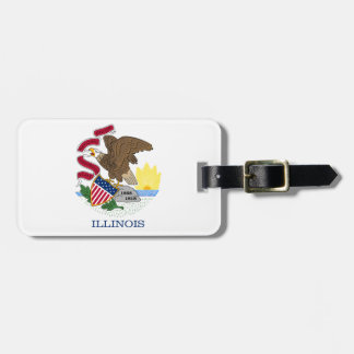 Illinois State Flag Tag For Luggage