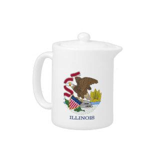 Illinois State Flag Teapot