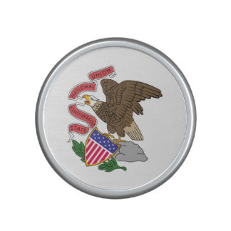 Illinois state flag usa united america symbol bluetooth speaker