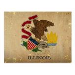 Illinois State Flag VINTAGE.png Postcard