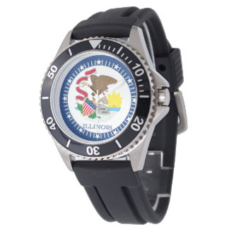 Illinois State Flag Watch Design