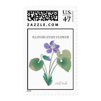 Illinois State Flower Postage Stamp