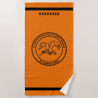 Illinois State Politicians Prison Beach Towel