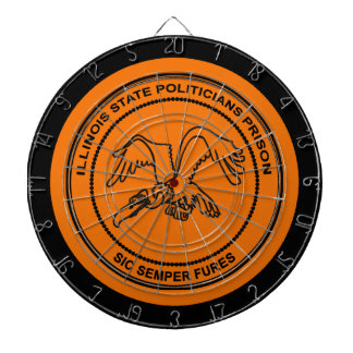 Illinois State Politicians Prison Dart Board