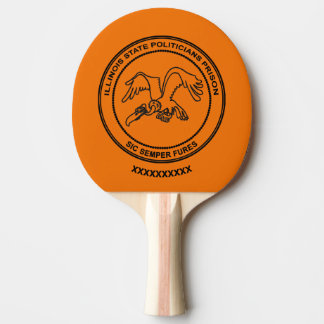 Illinois State Politicians Prison Ping Pong Paddle