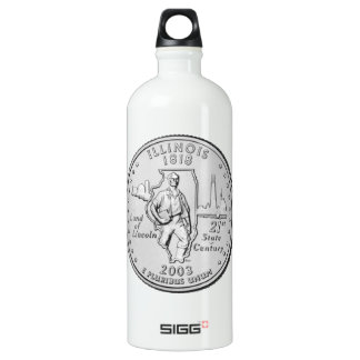Illinois State Quarter Aluminum Water Bottle