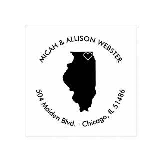 Illinois State Return Address Stamp