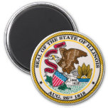Illinois State Seal 2 Inch Round Magnet