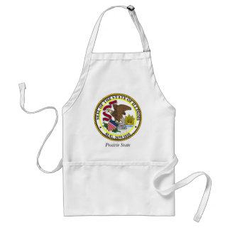 Illinois State Seal and Motto Adult Apron