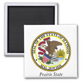 Illinois State Seal and Motto Magnet