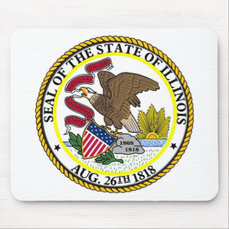 Illinois State Seal and Motto Mouse Pad