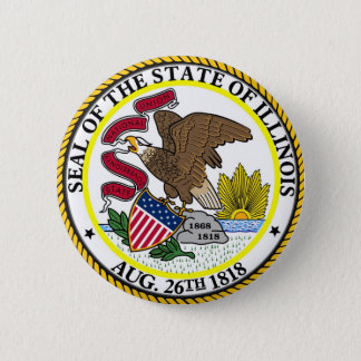 Illinois State Seal and Motto Pinback Button