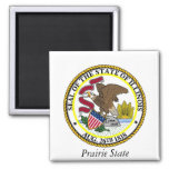 Illinois State Seal and Motto Refrigerator Magnet
