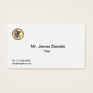 Illinois State Seal Business Card
